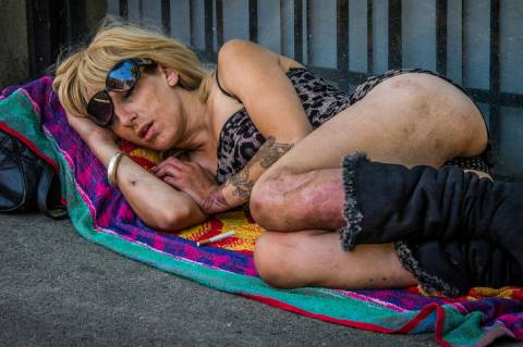Ted McGrath:  Street Sleeper - Vancouver, 2014