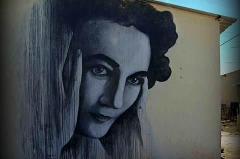 Ruth First - Ben Slow falfestménye, Johannesburg