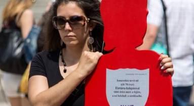 Seres Barbara 2018-ban, az általa szervezett Angyalhír emléksétán. (Fotó: Borsos Borbála)